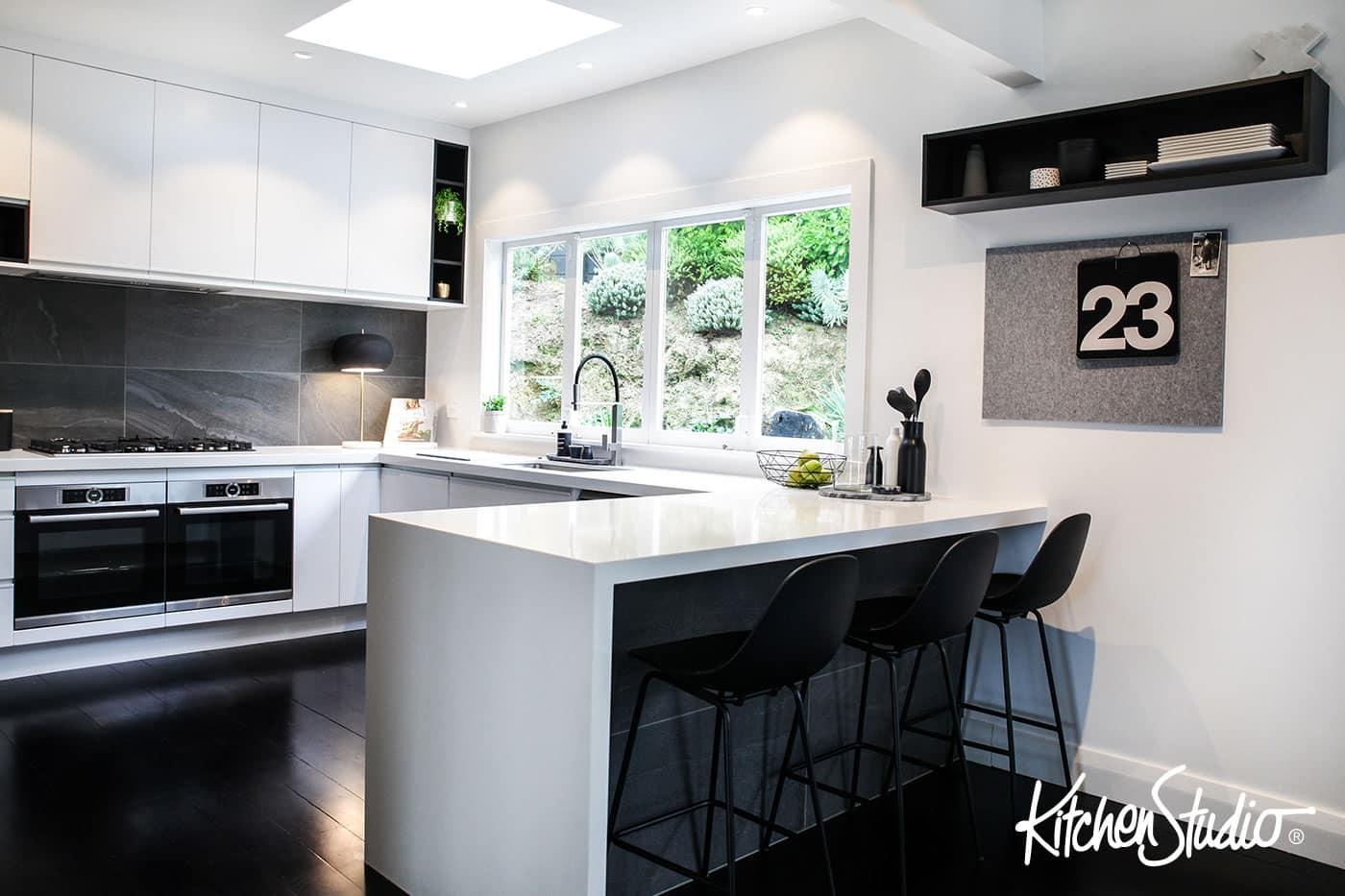 Be Bold With Black White Kitchen Studio