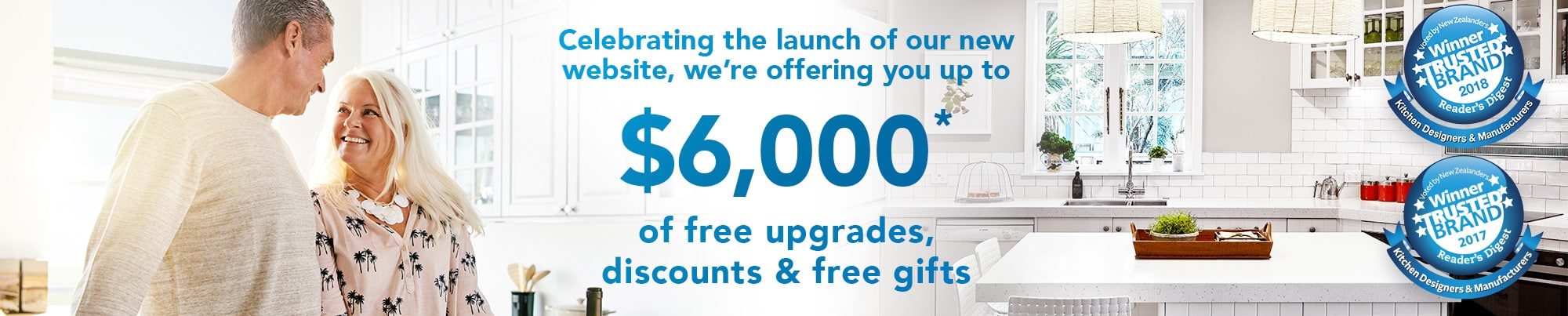 Up to $6,000 of upgrades, discounts and free gifts