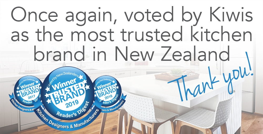 Once again voted by Kiwis as the most trusted kitchen brand in New Zealand