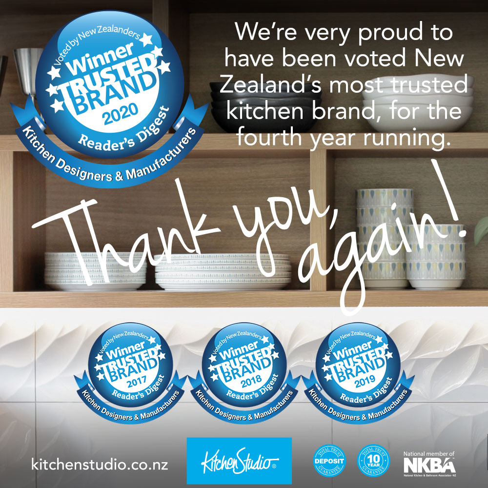 Voted New Zealand's most trusted kitchen brand for the fourth year running